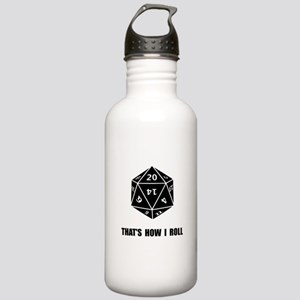 20 Sided Dice Roll Stainless Water Bottle 1.0L