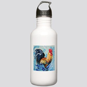 Rooster blue Stainless Water Bottle 1.0L