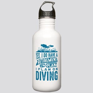 Retirement Plan Diving Stainless Water Bottle 1.0L