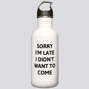 Sorry Im Late -black Stainless Water Bottle 1.0L