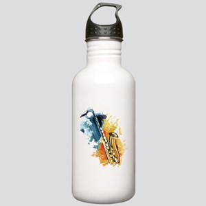 Saxophone Painting Sports Water Bottle