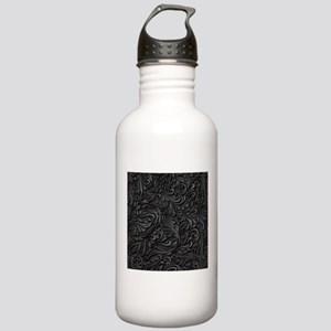 Black Flourish Stainless Water Bottle 1.0L