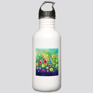 Watercolor Flowers Stainless Water Bottle 1.0L