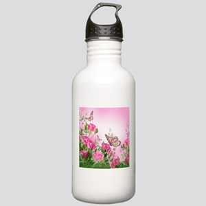 Butterfly Flowers Stainless Water Bottle 1.0L