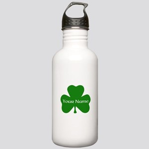CUSTOM Shamrock with Your Name Water Bottle