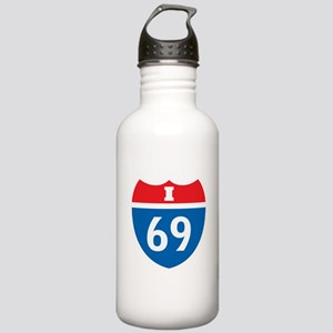 Interstate 69 I-69 Stainless Water Bottle 1.0L