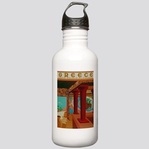 Vintage Crete Greece Travel Water Bottle