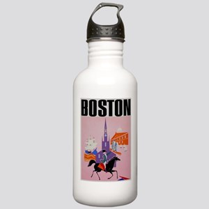 Vintage Boston MA Travel Water Bottle