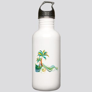 Rainbow Palm Tree Water Bottle