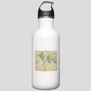 Vintage Political Map Stainless Water Bottle 1.0L