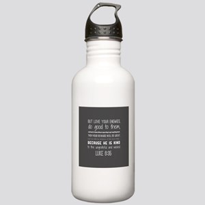 Gray and White Luke 6: Stainless Water Bottle 1.0L