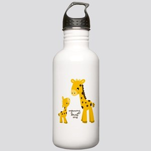 Mother and child Giraffe Stainless Water Bottle 1.