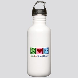 Peace Love PE Teacher Stainless Water Bottle 1.0L
