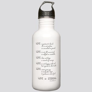 Love is Patient Verse Water Bottle