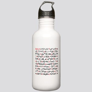 Secret Message: I Love you. Stainless Water Bottle