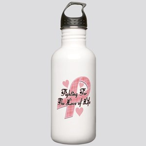 plaidbreastcancer Water Bottle