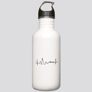 Chicago Heartbeat Letters Water Bottle
