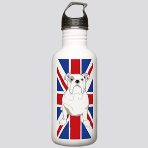 Bulldog English Flag Stainless Water Bottle 1.0L