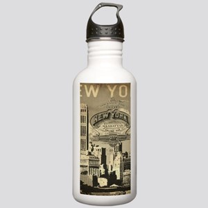 Vintage USA New York Stainless Water Bottle 1.0L