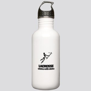 Chicks With Sticks Lacrosse Stainless Water Bottle