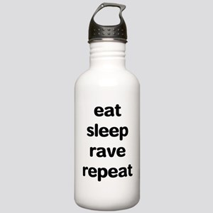 eat sleep rave repeat Stainless Water Bottle 1.0L