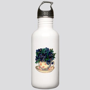 Teacup Flowers Water Bottle