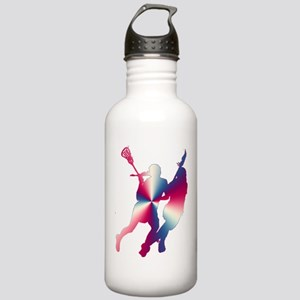 Lacrosse Red White and Blue Water Bottle