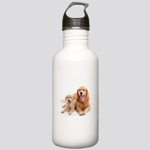 Golden retriever buddies Stainless Water Bottle 1.