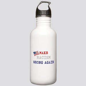 Make Racism Wrong Again Water Bottle