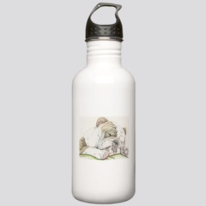 Sleepy English Bulldog Water Bottle