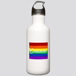 Cockaholic gay rainbow Stainless Water Bottle 1.0L