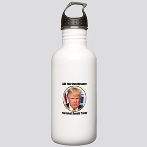 CUSTOM MESSAGE President Trump Water Bottle
