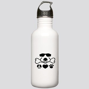 Peace Love Dog Stainless Water Bottle