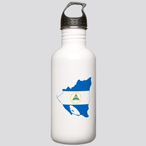 Nicaragua Flag and Map Stainless Water Bottle 1.0L