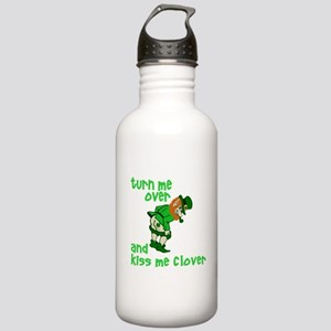 Kiss Me Clover Funny Irish Stainless Water Bottle