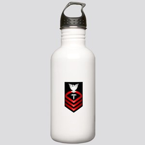 Navy Chief Hospital Corpsman Stainless Water Bottl