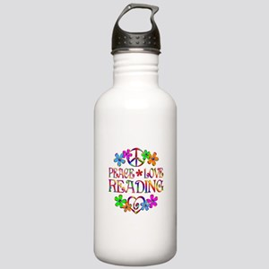Peace Love Reading Stainless Water Bottle 1.0L