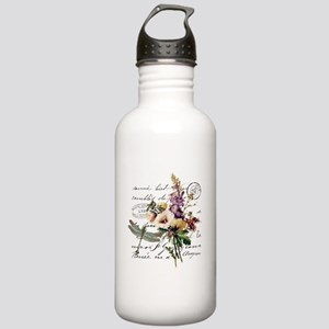 Dragonfly and flowers Stainless Water Bottle 1.0L