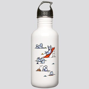 Samoyed Eskie Playground Stainless Water Bottle 1.