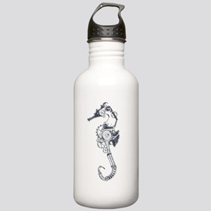 Silver Industrial Sea Horse Sports Water Bottle