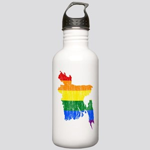 Bangladesh Rainbow Pride Flag And Map Stainless Wa