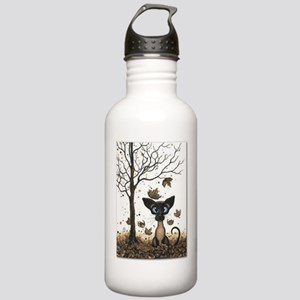 Fall Feline Water Bottle