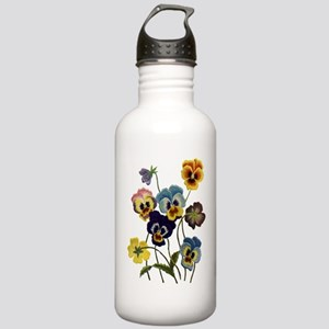 PARADE OF PANSIES Stainless Water Bottle 1.0L