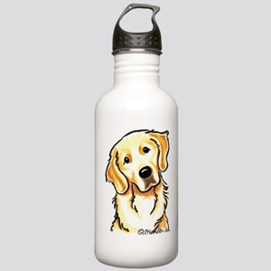 Golden Retriever Portrait Stainless Water Bottle 1