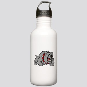 grey bulldog Water Bottle