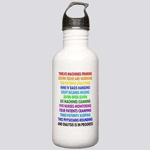 DIALYSIS 12 DAYS OF CH Stainless Water Bottle 1.0L