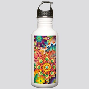 Funky Retro Pattern Ab Stainless Water Bottle 1.0L