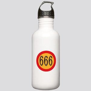 Number 666 Sports Water Bottle
