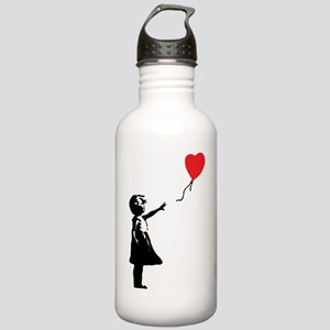 Banksy - Little Girl with Ballon Water Bottle