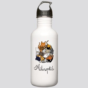 Ailurophile; Cat lover Stainless Water Bottle 1.0L